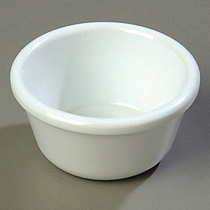 Smooth Ramekin, 3 oz. Melamine, White
