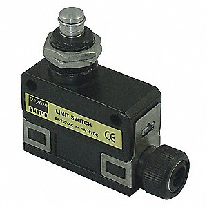 Miniature Precision Limit Switch, 240VAC Voltage Rating, 5 Amps, Top Actuator Location