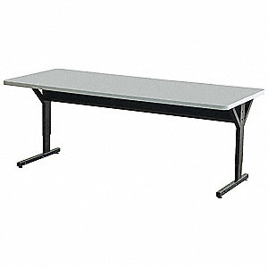 Computer Desk,72 x 33-1/2 x 30 In,Gray