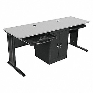 Computer Workstation,72x29x24 In,Gray
