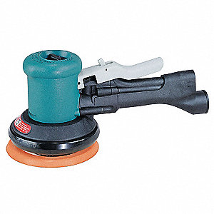 "Air Dual-Action Sander, 5"" PSA, 3/16"" Orbit Dia., Non-Vacuum, 0.45 HP"