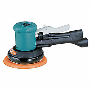 "Air Dual-Action Sander with 6"" Pad Size, Non-Vacuum, 3/16"" Orbit Dia."