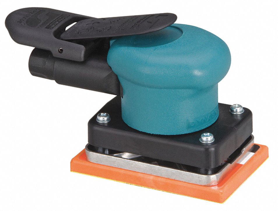 Air Random Orbital Sander, 3 in Hook-and-Loop, 3/32 in Orbit Dia., Non-Vacuum, 0.15 hp HP