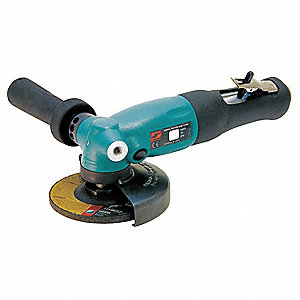 12,000 RPM Free Speed, 4 1/2 in Wheel Dia. Angle Air Grinder, 1.3 hp
