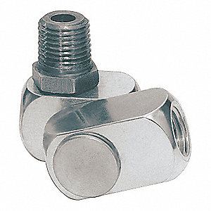 Aluminum Swivel Connector with (M)NPT x (F)NPT Hose Connection
