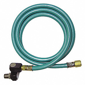 60 In. Coupled Assembly Snubber Hose, Teal