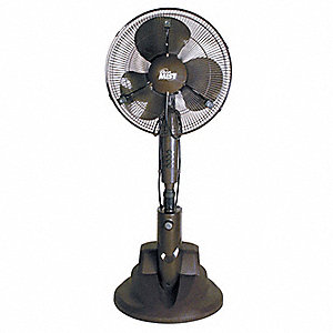 "16"" Commercial Pedestal-Mounted Oscillating Misting Air Circulator"