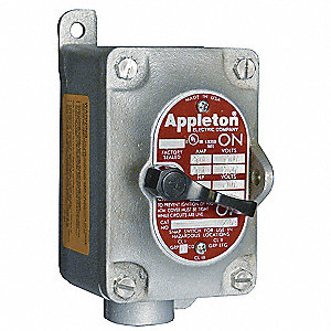 2-Pole Dead-End Motor Starter, 20 Amps AC, Enclosure NEMA Rating 3, 7CD, 9EFG