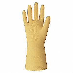 GLOVES LATEX/UNLI 18 MIL 12IN YW L