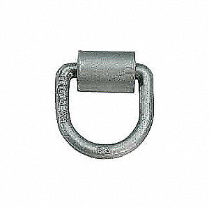 D-RING,5/8 DIA3INX3IN,FORGED,W/BRKT