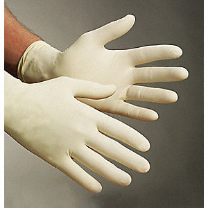 DISPOSABLE GLOVES,LATEX,L,NATURAL,P