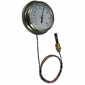 Analog Panel Mt Thermometer,30 to 240F