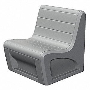 Sabre Chair,Polyethylene,Gray