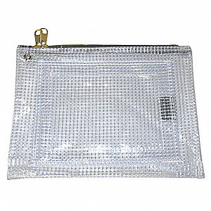 Evidence Pouch,9 x 12 In,Clear