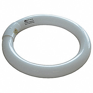 22 Watts Circular Fluorescent Lamp, T9, 4-Pin (G10q), 980 Lumens, 6500K Bulb Color Temp.