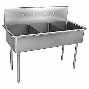 Scullery Sink,Without Faucet,48 In. L