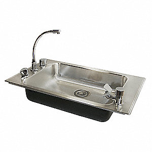 "31"" x 19"" x 5-1/2"" Drop-In Classroom Sink Package with 22"" x 16"" Bowl Size"