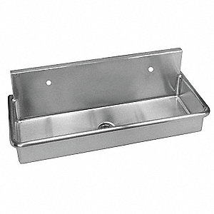 Stainless Steel Scrub Sink, Without Faucet, Wall Mounting Type, Stainless Steel