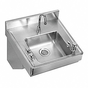Stainless Steel Classroom Sink Package, With Faucet, Wall Mounting Type, Stainless Steel