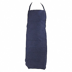 APRON BIB 100P COTTON NAVY