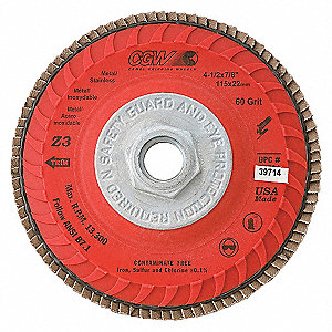 DISC FLAP TRIMMABLE 5X5/8-11 Z3-60