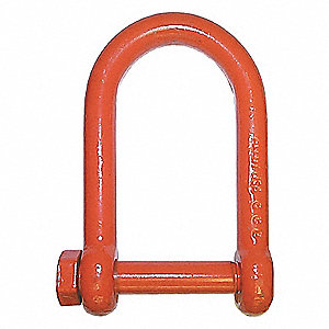 SHACKLE,1IN,LONG,BOLT+NUT,PAINTD