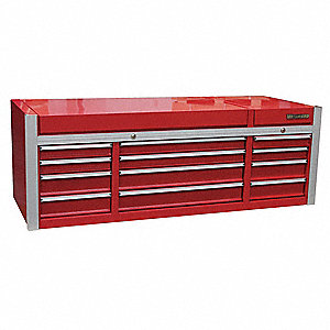 "Red Top Chest, 73-1/2"" Width x 29-1/2""  Depth x 26-1/8"" Height, Number of Drawers: 12"