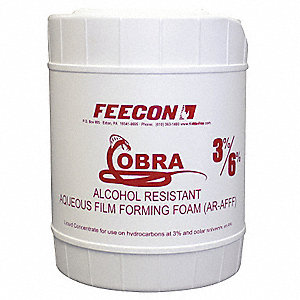 Alcohol Resistant Aqueous Film Forming Foam Concentrate, 5 gal., Proportioning 3% x 6%, For Use With