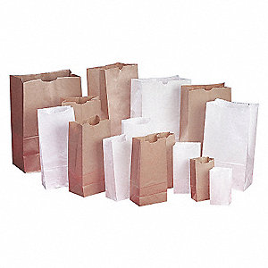 WHITE PAPER BAG 3LB BUNDLE