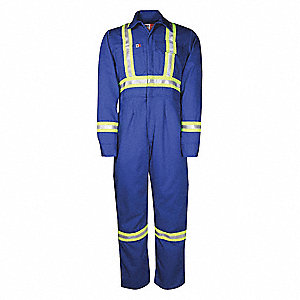 COVERALL WOM ID 7OZ R/STRP MD R NV