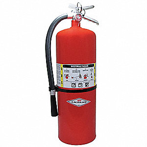 Dry Chemical Fire Extinguisher with 20 lb. Capacity and 30 sec. Discharge Time