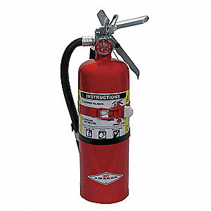 Dry Chemical Fire Extinguisher with 5 lb. Capacity and 14 sec. Discharge Time