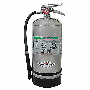 Fire Extinguisher, Wet Chemical, Potassium Acetate, 12-11/16 lb., 2A:K UL Rating