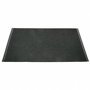 "Indoor Entrance Mat, 5 ft. L, 3 ft. W, 1/2"" Thick, Rectangle, Black"