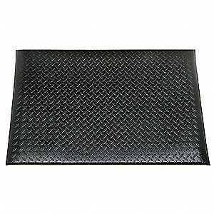 ANTI-FATIGUE MAT,VINYL,3X5FT,BLACK
