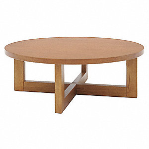 Coffee Table,Round,37 Dia.x13 H,Med Oak