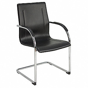 Entrepreneur Side Chair,Vinyl,Black
