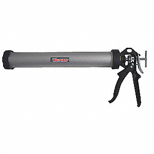 Caulk Gun, Sausage, Silver/Black, 24 oz.