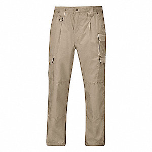 "Men's Tactical Pants, Fits Waist Size: 44"", Inseam: 32"", Khaki"