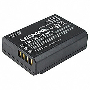 Lithium Ion Camera Battery&#x3b; Replaces Canon LP-E10