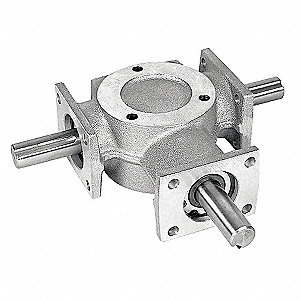 Standard Cast Aluminum Bevel Gear Drive, Single Output
