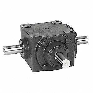 Standard Rugged Cast Iron Bevel Gear Drive, Double Output, 665 lb. Overhung Load