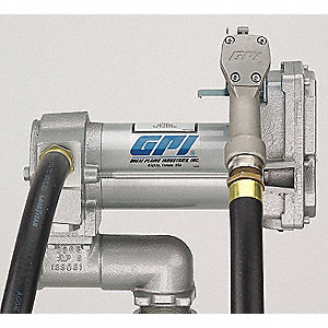 4/10 HP Cast Iron Rotary Vane Manual Fuel Transfer Pump, 25 GPM, 12VDC