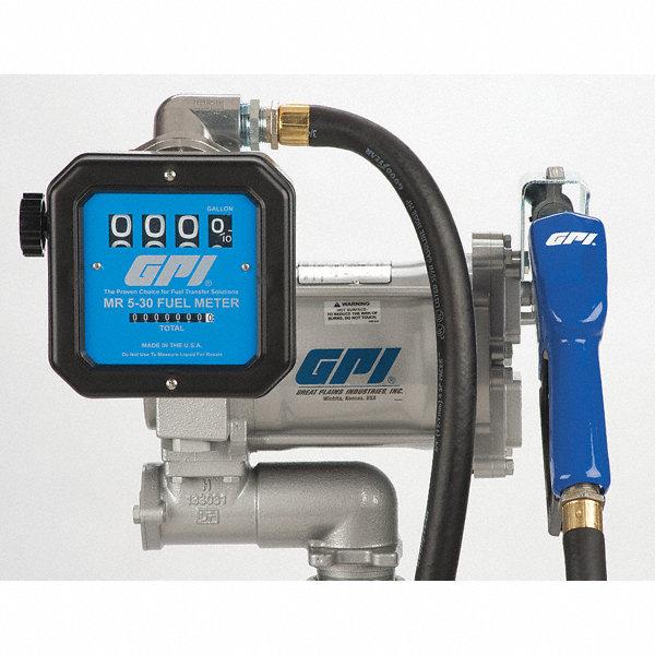 Gpi 1 3 hp cast iron rotary vane fuel transfer pump 20 for Gpi fuel pump motor