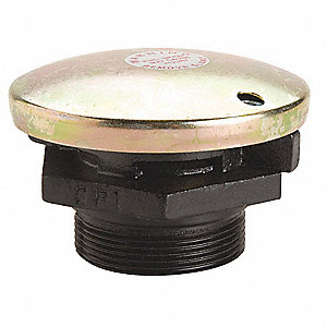 "4"" Cast-Iron base/plated cap Vent Cap, Valve Opens 2-1/2 lbs./ Vacuum Release Opens at 1-1/2 oz., 2"""