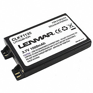 Kyocera Cellular Phone Battery, Lithium-ion, 1000mAh, 1 EA