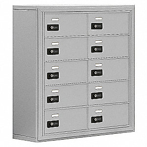 "Cell Phone Locker, Assembled, Five Tier, 30-1/2"" Overall Width, 9-1/4"" Overall Depth"