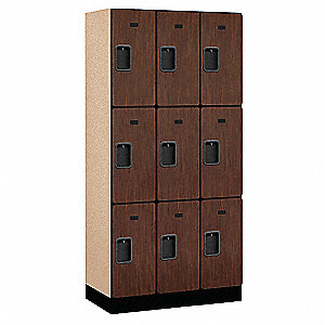 "Wardrobe Locker, Assembled, Three Tier, 36"" Overall Width"