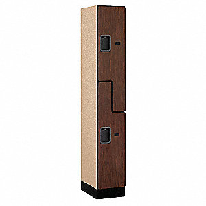 "Wardrobe Z Locker, Assembled, Two Tier, 12"" Overall Width"