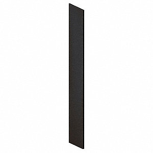 Locker End Panel,Slope Top,18 D,Black